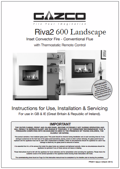 Fitting Instructions Riva 2 600 Landsca